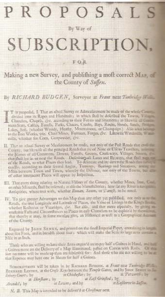 Budgen, Sussex subscription