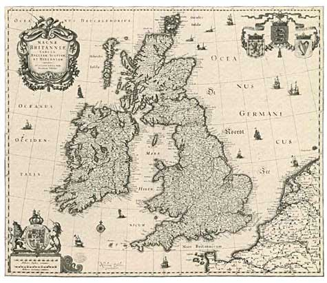 The Map Of British Isles Was Dramatically Transformed Between Its Original Printing Left By Claes Jansz Visscher About 1623 And Reissue Right